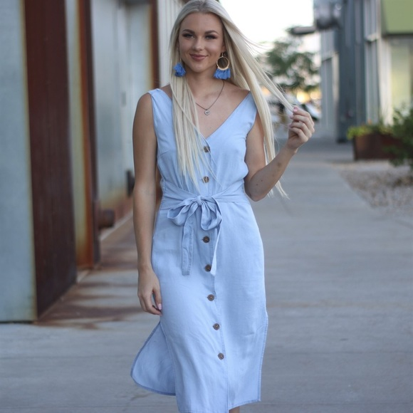 Love Tree Dresses & Skirts - Denim tensel dress